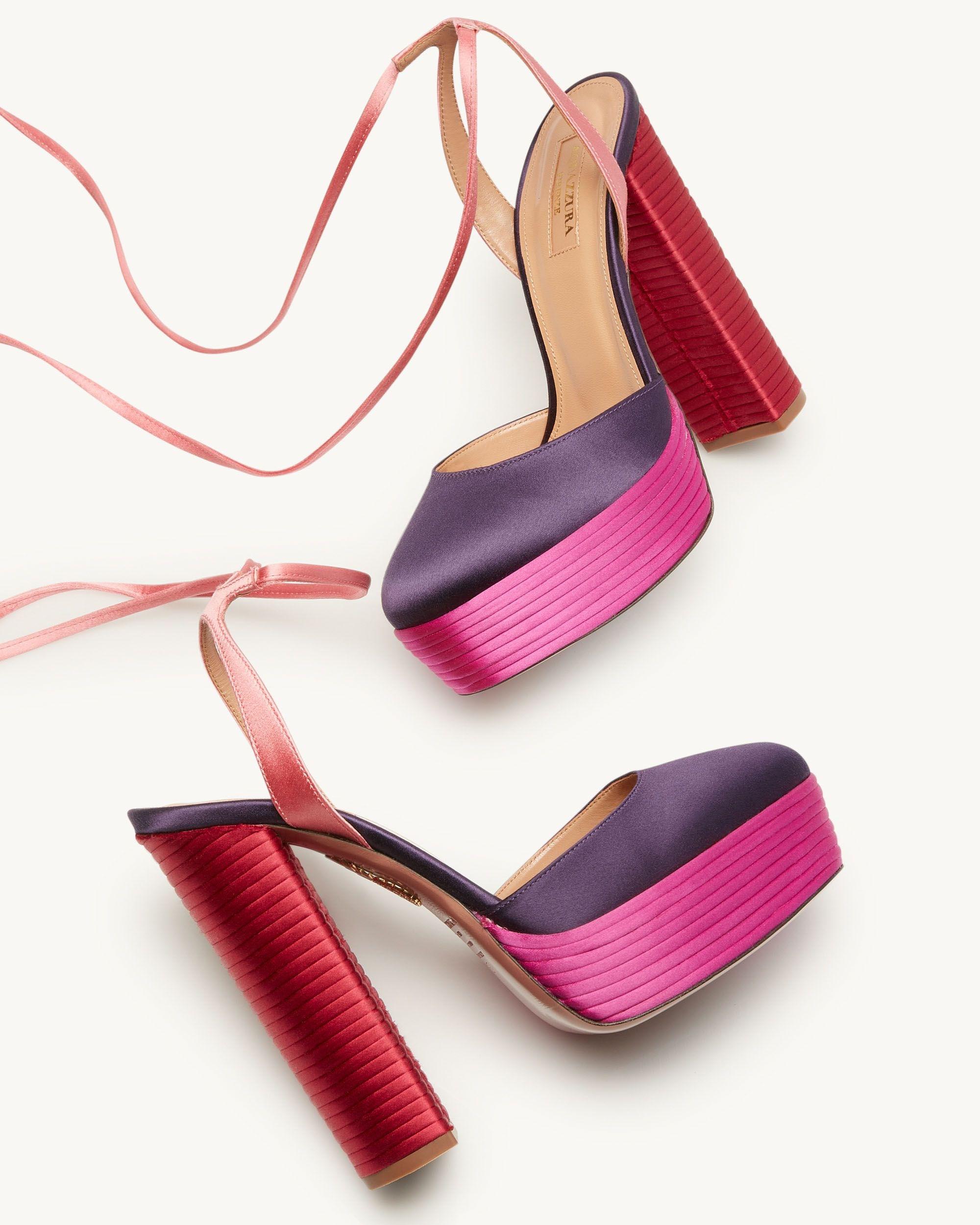I sandali con tacco largo Penelope Multi Plateau 140 sono il simbolo dell'originalità del Made in Italy.